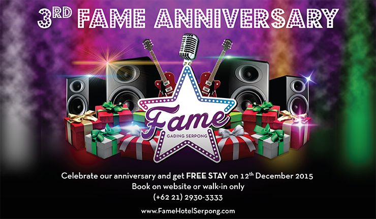 3 ANNIVERSARY Fame Hotel